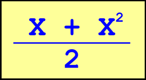 Fórmula del sumador de números precedentes