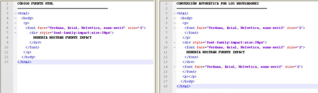 ejemplo de conversión de código que generan los navegadores